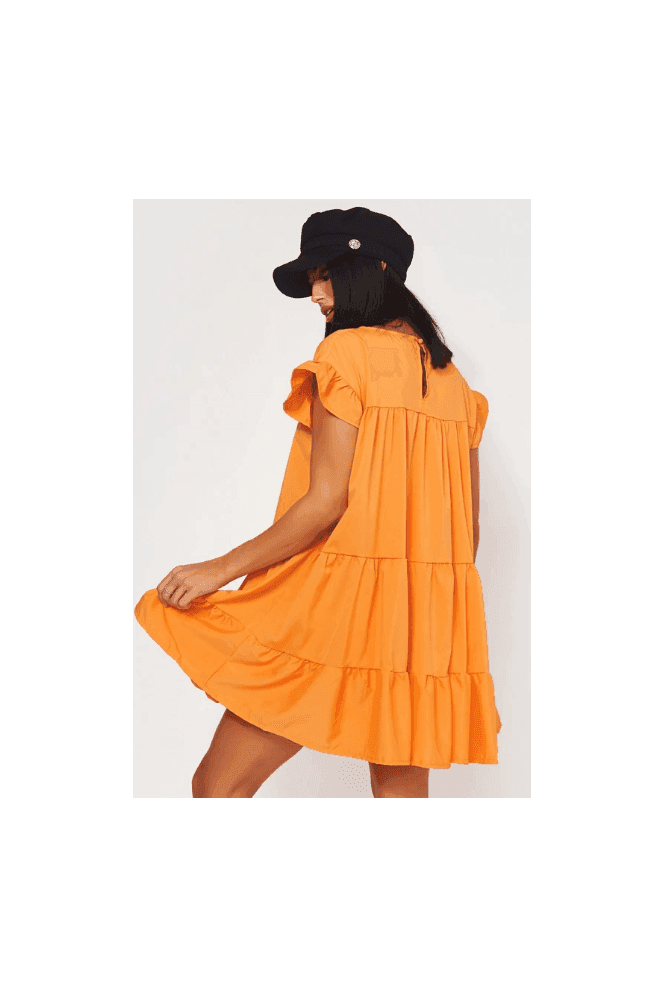 The Fashion Bible Luca Petite Orange Frill Smock Dress