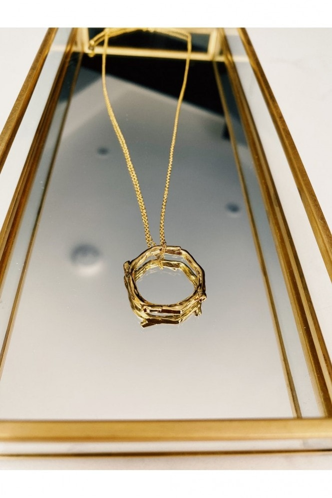 Gold Lunar Gold Ring Necklace