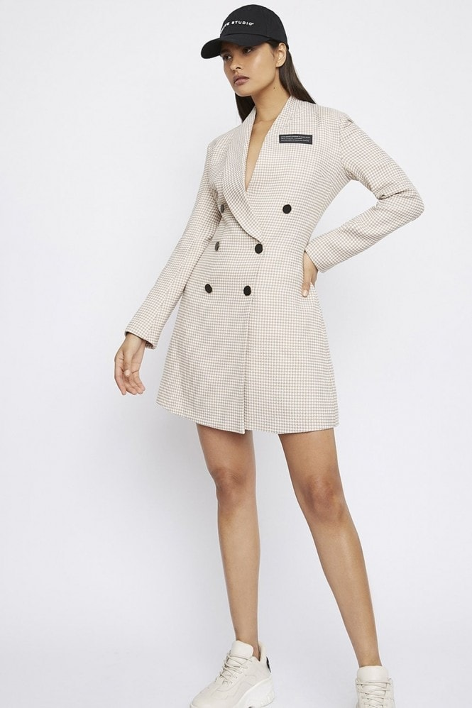 Whyte Studio THE 'DEACTIVATE' HOUNDSTOOTH BLAZER DRESS