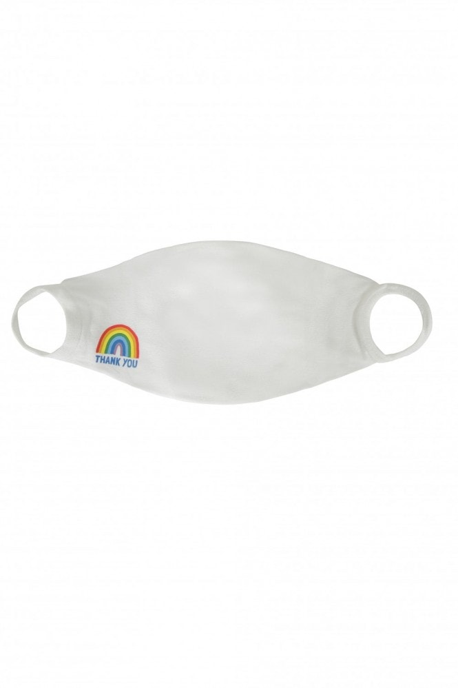 Little Mistress x Kindred Rainbow Thank You NHS White Face Mask / Soft Touch For Adults -Pack of 3