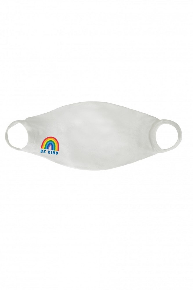 Little Mistress x Kindred Rainbow Thank You NHS White Be Kind Rainbow Face Mask / Soft Touch For Adults -Pack of 10