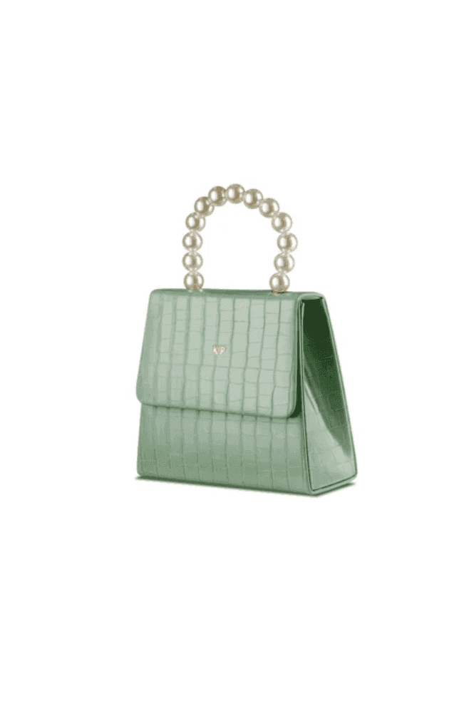 ThreeSixFive Mint Green Pearl Drop handbag