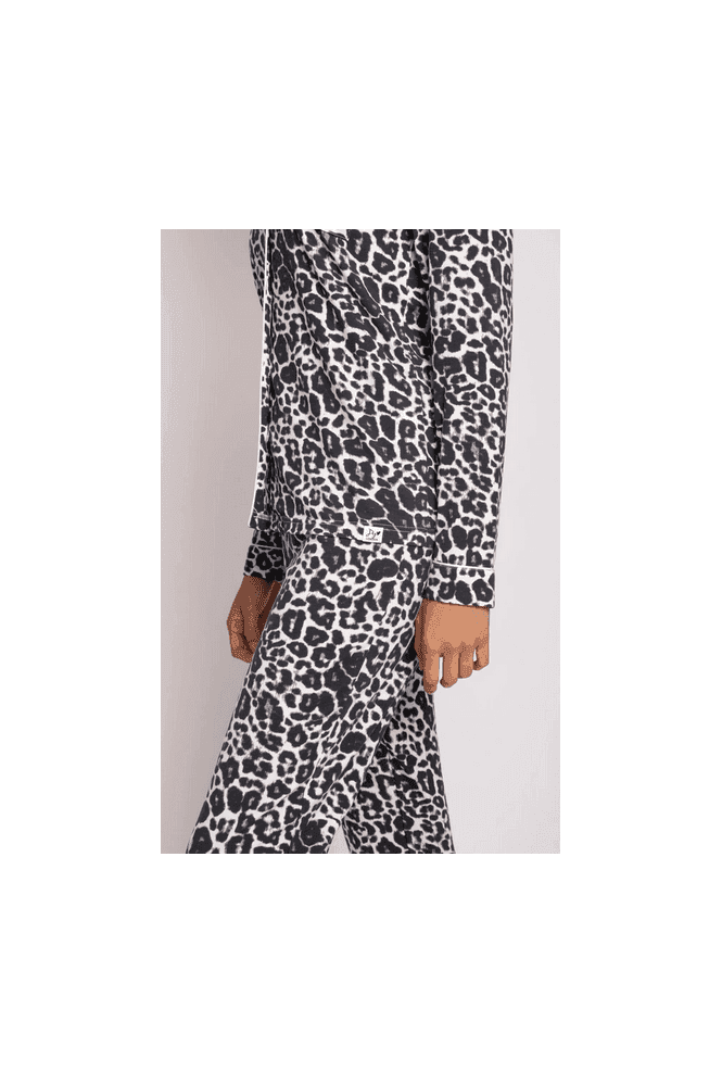 Pretty You London Bamboo Luxe Leopard Pyjama Set