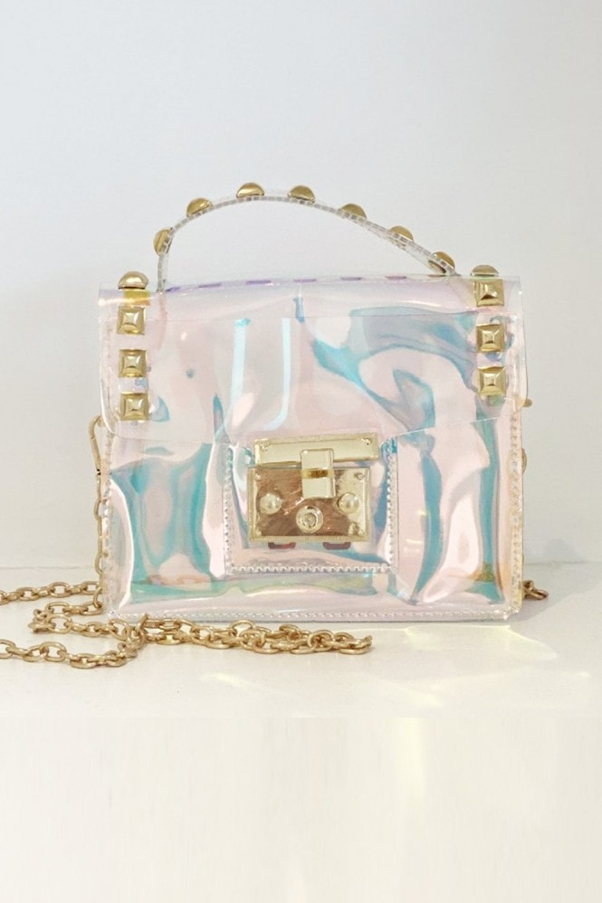 Light Surface Transparent Single Shoulder Square Bag