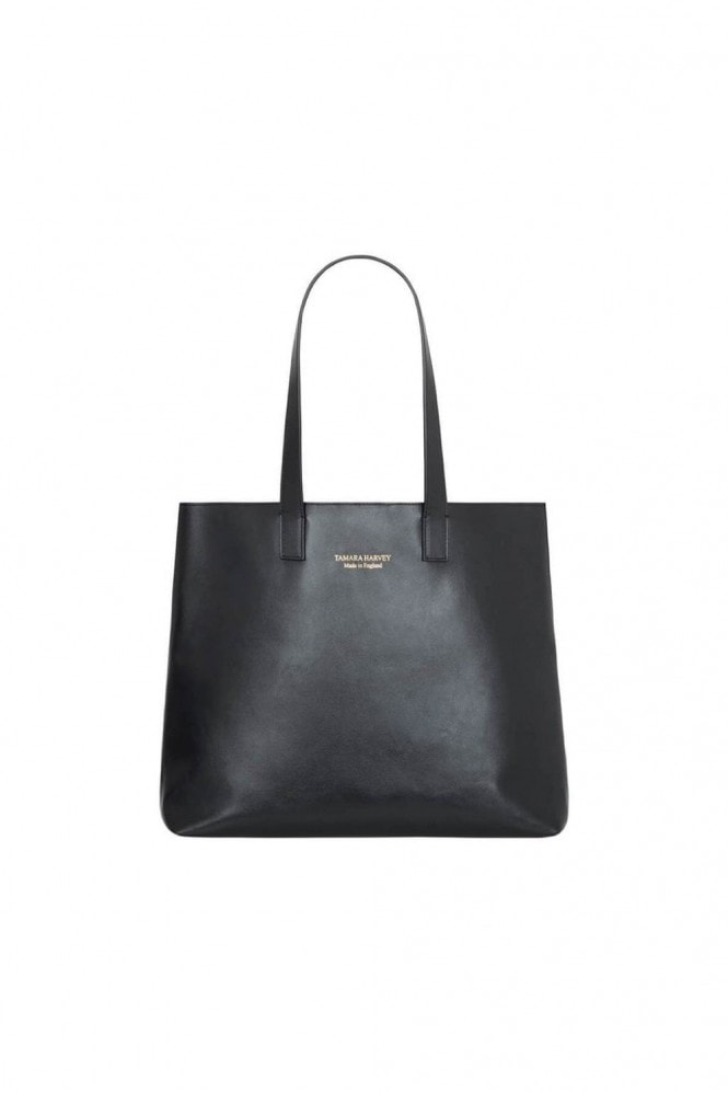 Tamara Harvey Black Leather Tote Bag