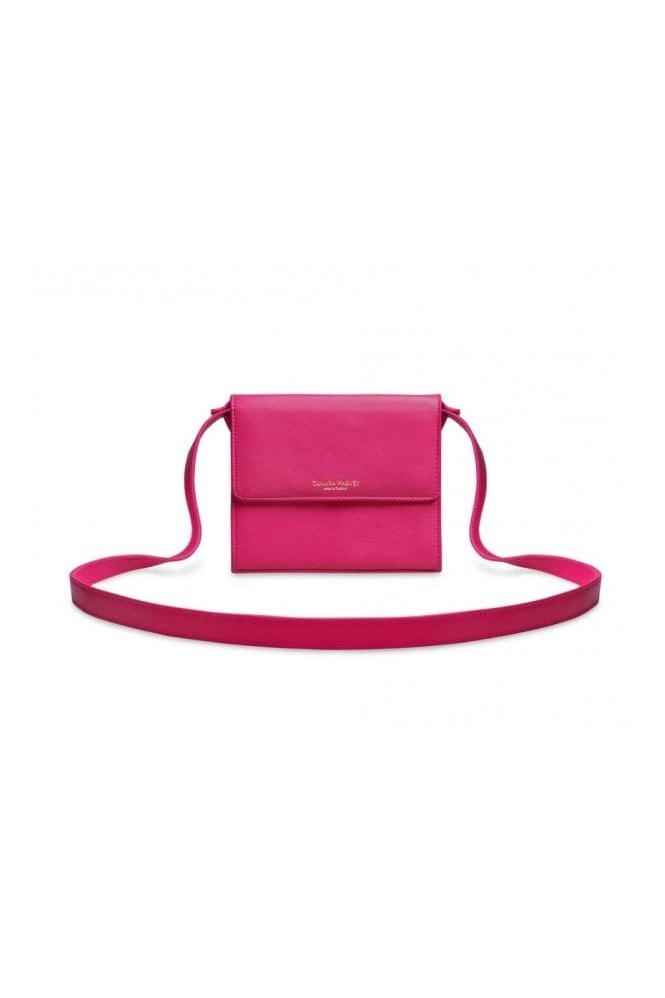 Tamara Harvey Pink Leather Cross Body Bag