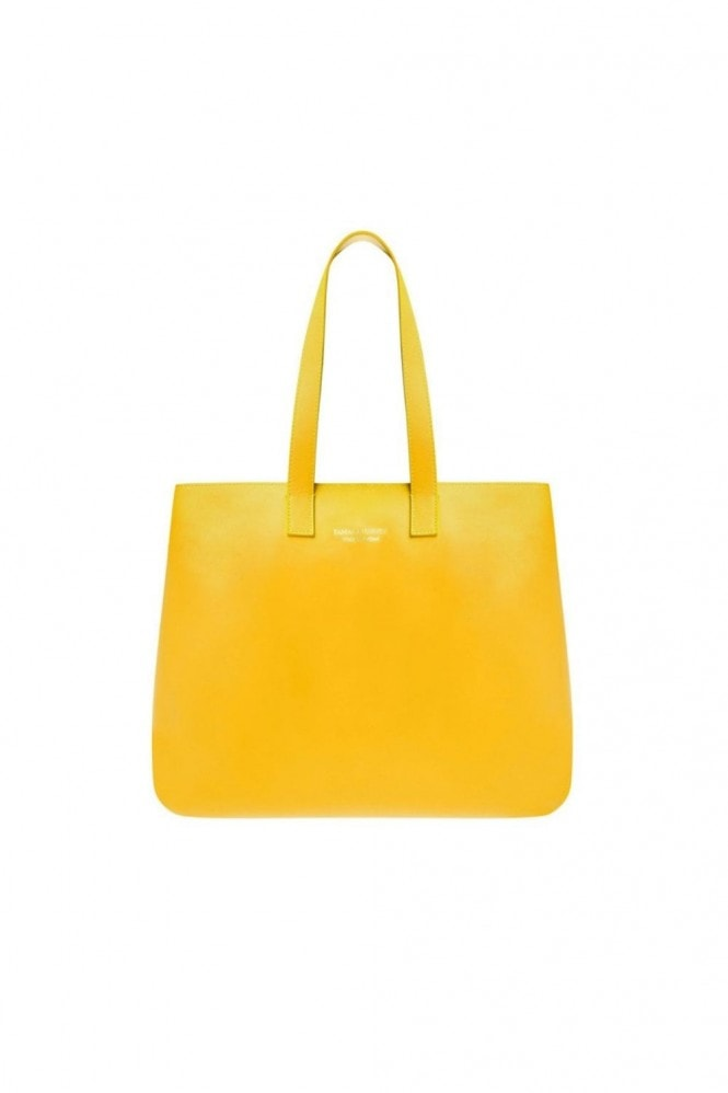 Tamara Harvey Yellow Leather Tote Bag
