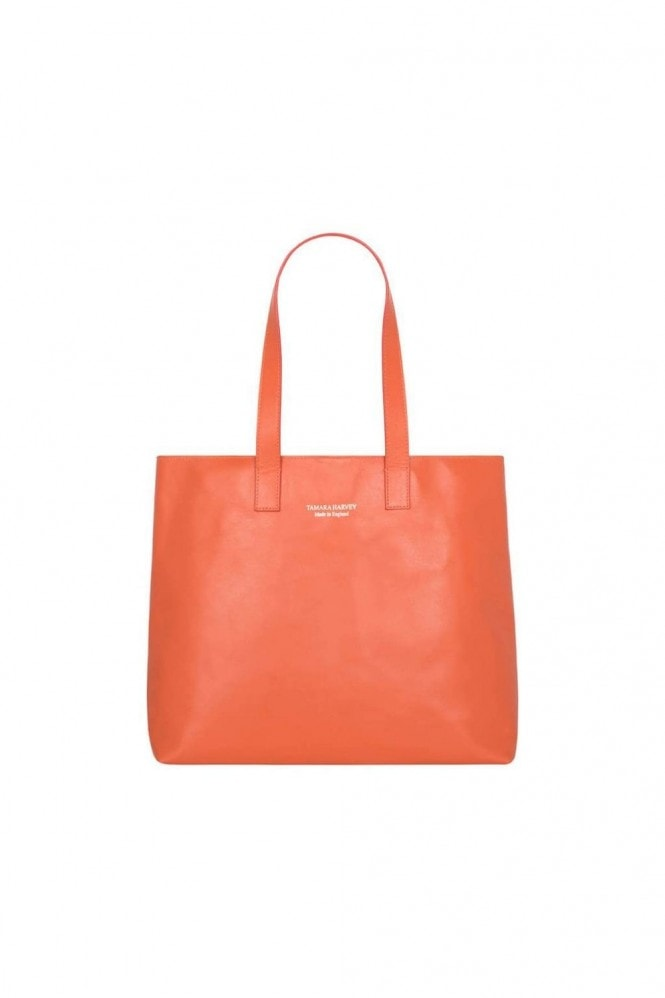 Tamara Harvey Orange Leather Tote Bag