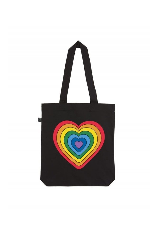 Kindred x Global's Make Some Noise Black Rainbow Tote Bag