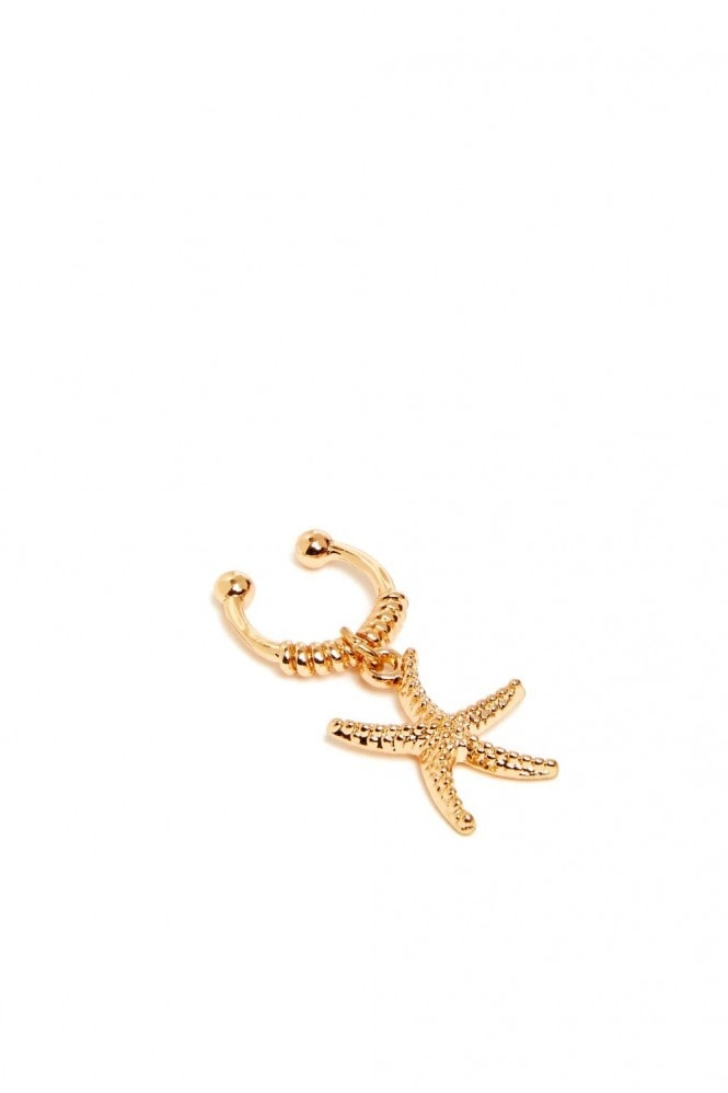 J Florence London Gold Starfish Ear cuff