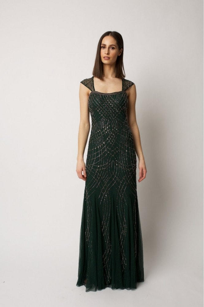 Raishma Green Lola Gown