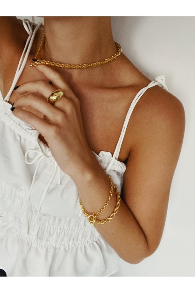 Gold Lunar Gold Woven Chain Necklace