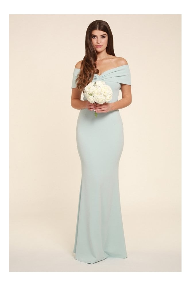 Honor Gold Mila Mint Multi Way Bardot Maxi Dress