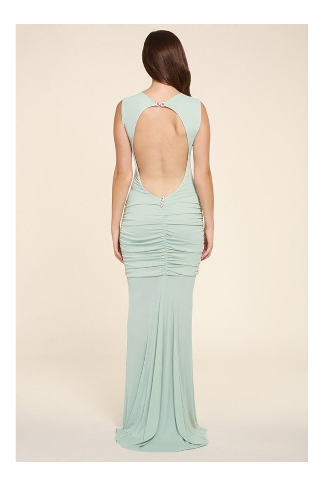 Honor Gold Bella mint sleeveless maxi dress