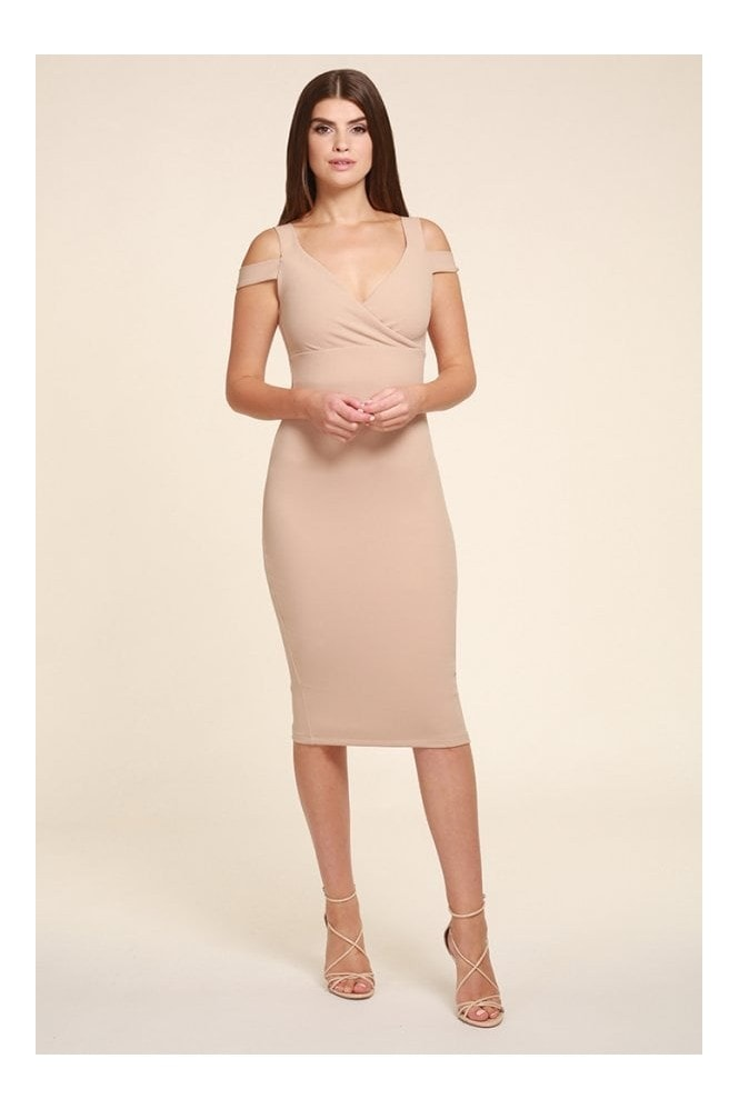 Honor Gold EVIE BEIGE MIDI
