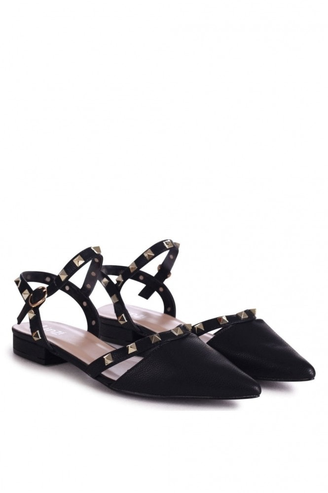 Linzi VISION - Black Nappa Studded Pump With Pointed Toe