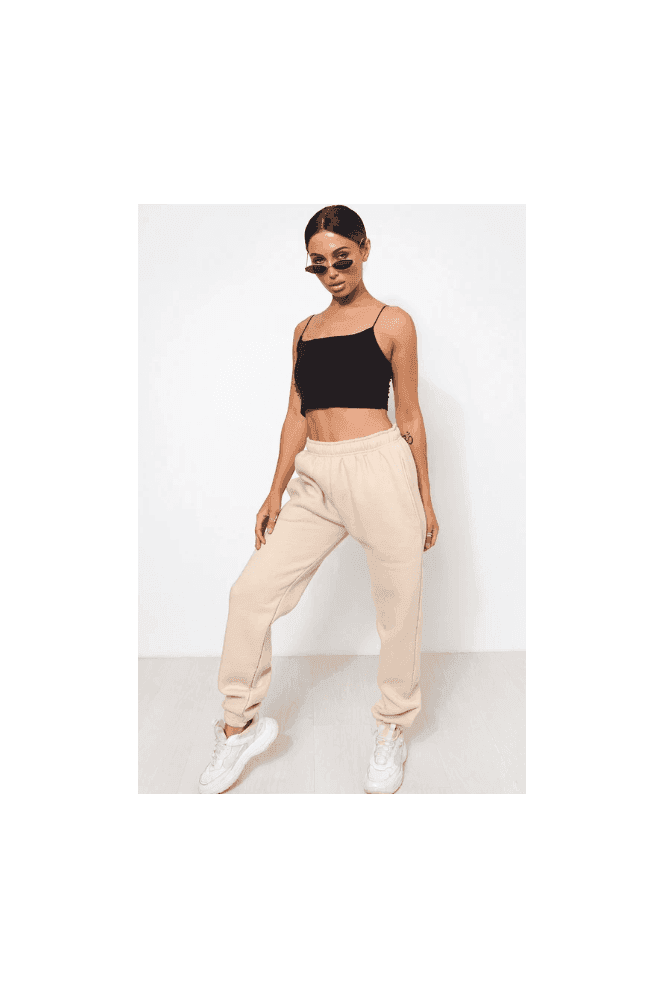 The Fashion Bible Casey Beige Joggers