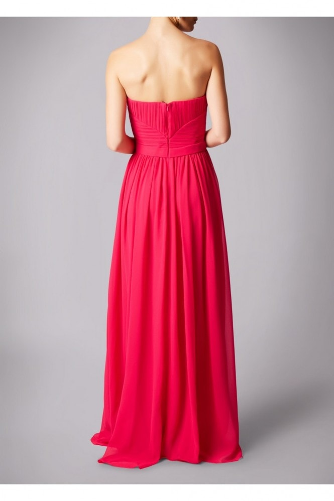 MASCARA LONDON SWEETHEART WRAPPED WAIST MAXI DRESS