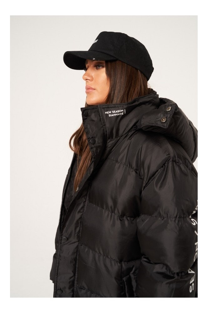 Sian Marie Black Essential Oversized Puffer Jacket