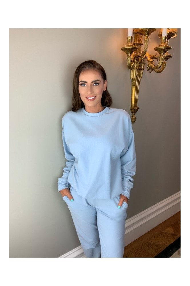 Rene K Couture Carrie' Sky Blue Sweat Pants