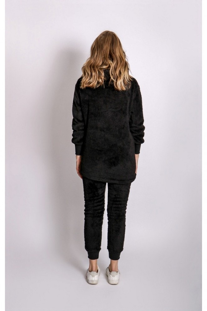Silk Leopard Black Three Piece Lounge Teddy Co-Ord