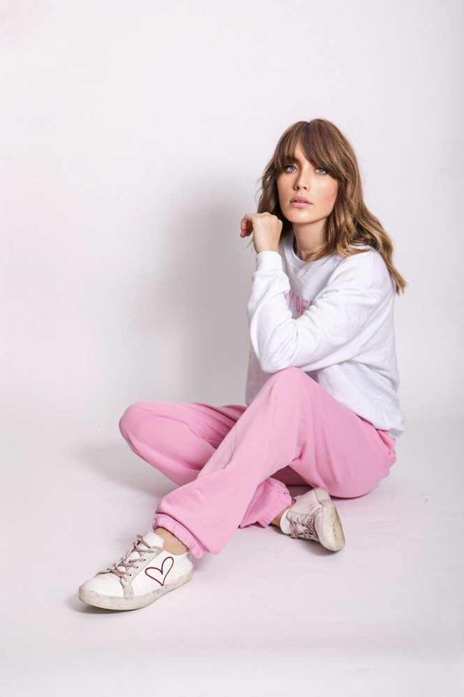 Little Mistress Pink Jogger Loungewear Co-ord