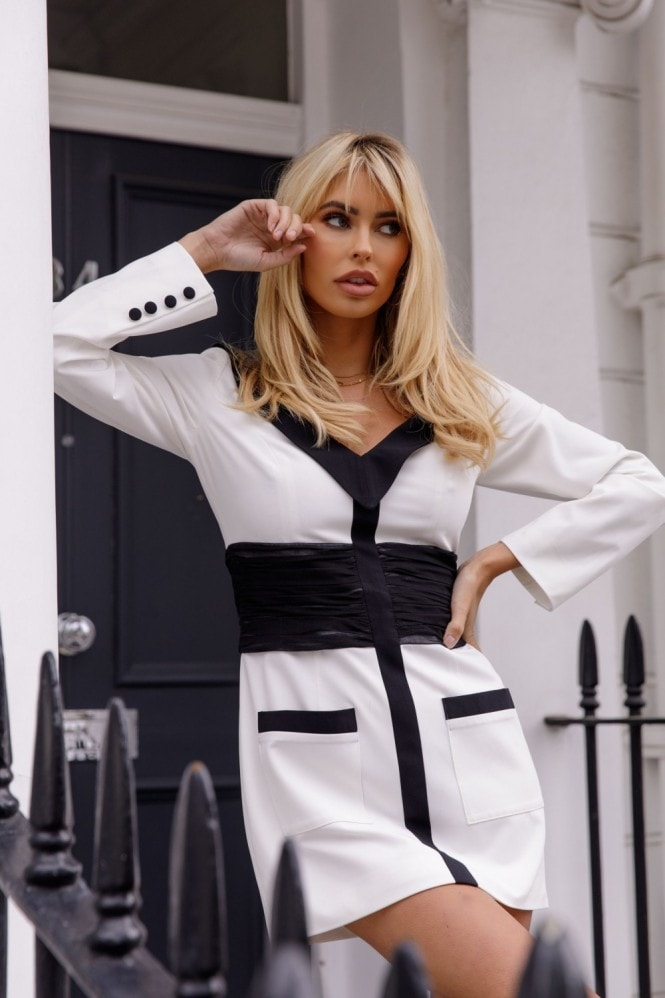 Kands London White Blazer Dress