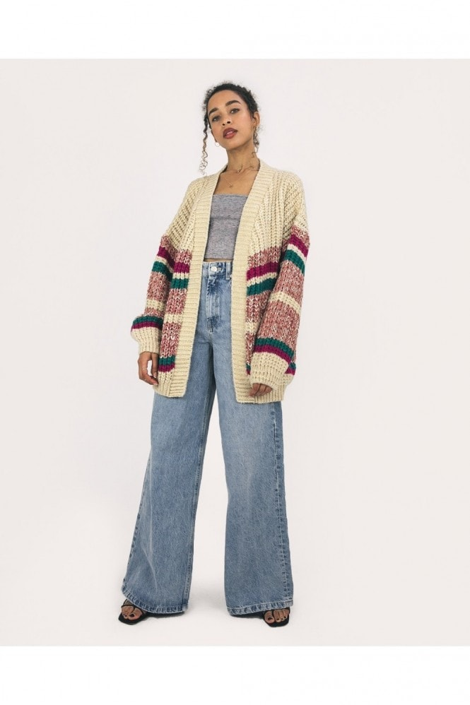 Cara & The Sky Mya Chunky Stripe Cardigan