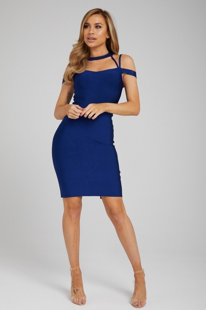 Made By Issae The 'Yolanda' Navy Bandage Dress
