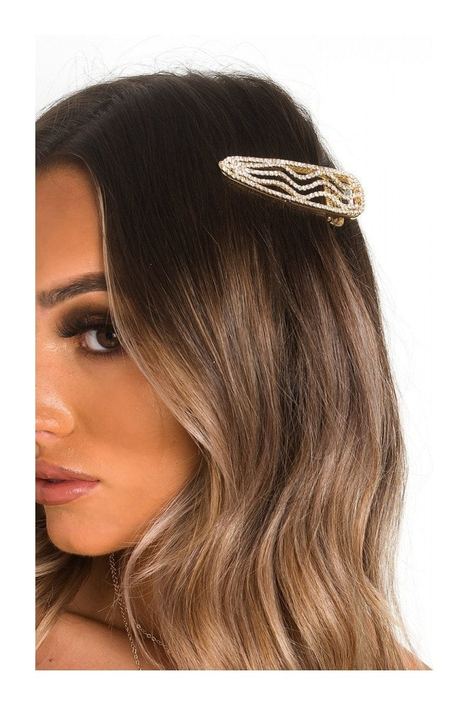 IKRUSH a Diamante Wave Overzed Hair Clip