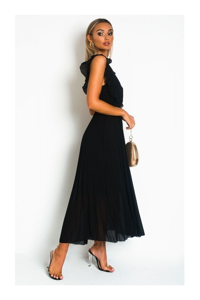 IKRUSH Bryanna Pleated Maxi Dress