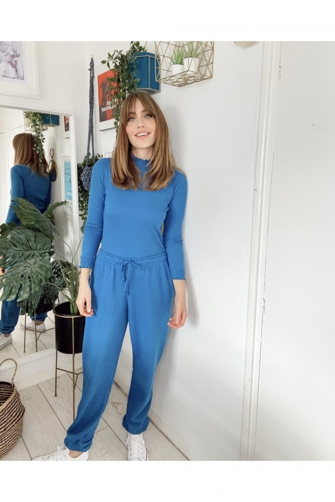 Little Mistress Blue Jogger Loungewear Co-ord