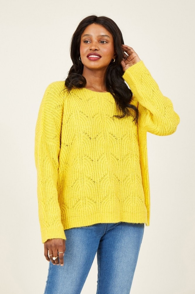 YUMI Yellow Lace Sequin Jumper