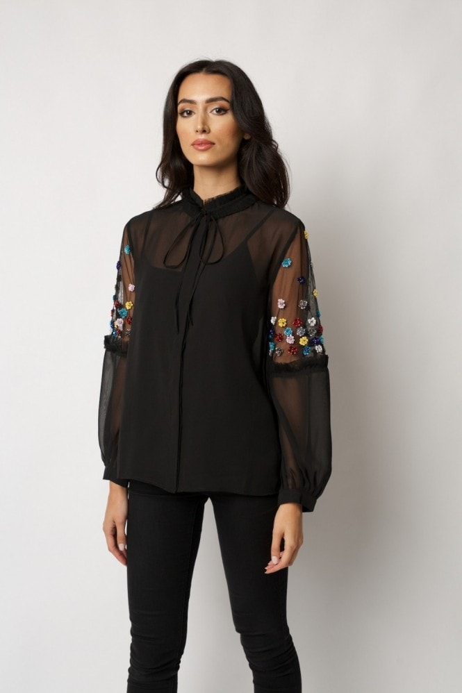 Raishma Black Rachel Top