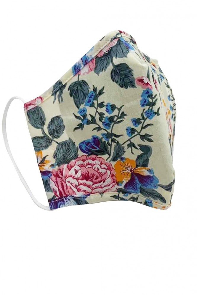YUMI Retro Floral Face Mask