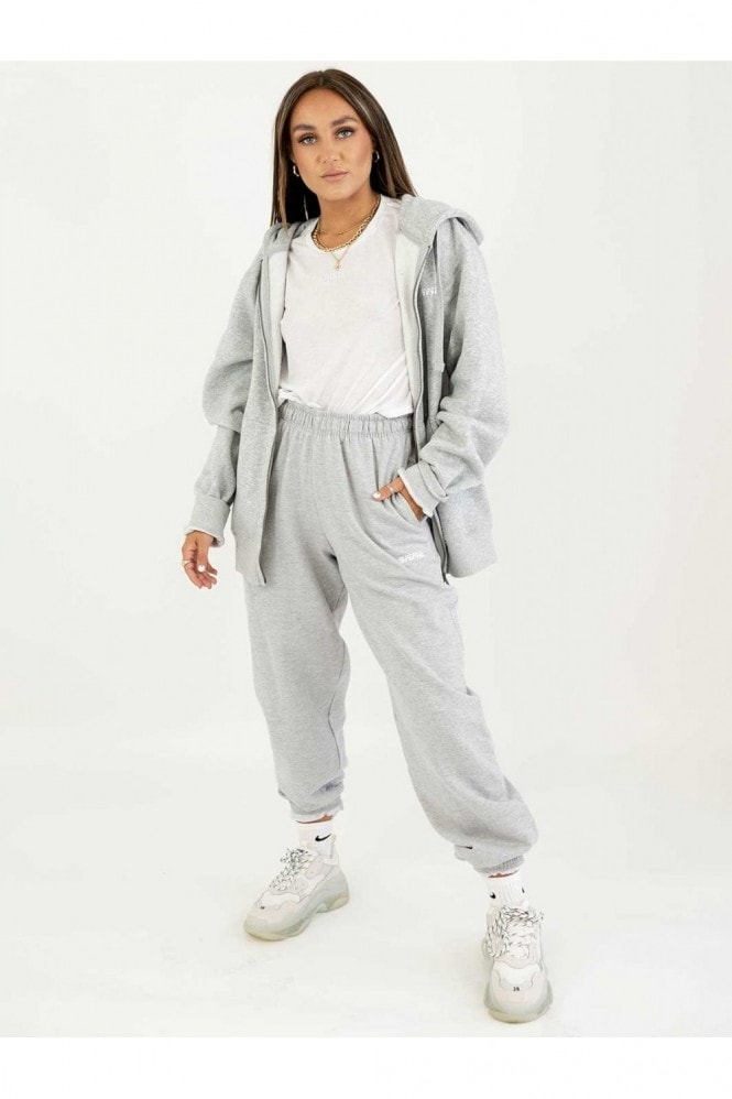 Sian Marie Loose Fit Grey Mix & Match Baggy Jogger