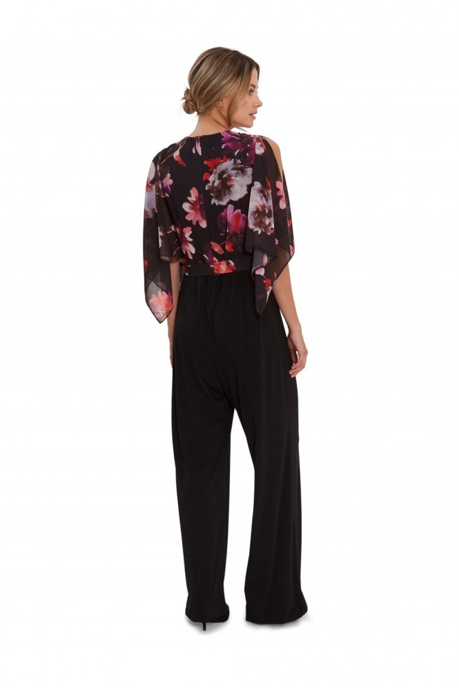 Gina Bacconi Chloe Floral Top Jumpsuit