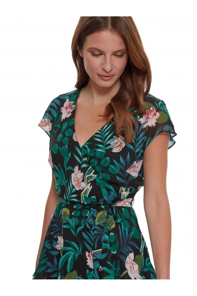 Gina Bacconi Maricia Tiered Floral Dress