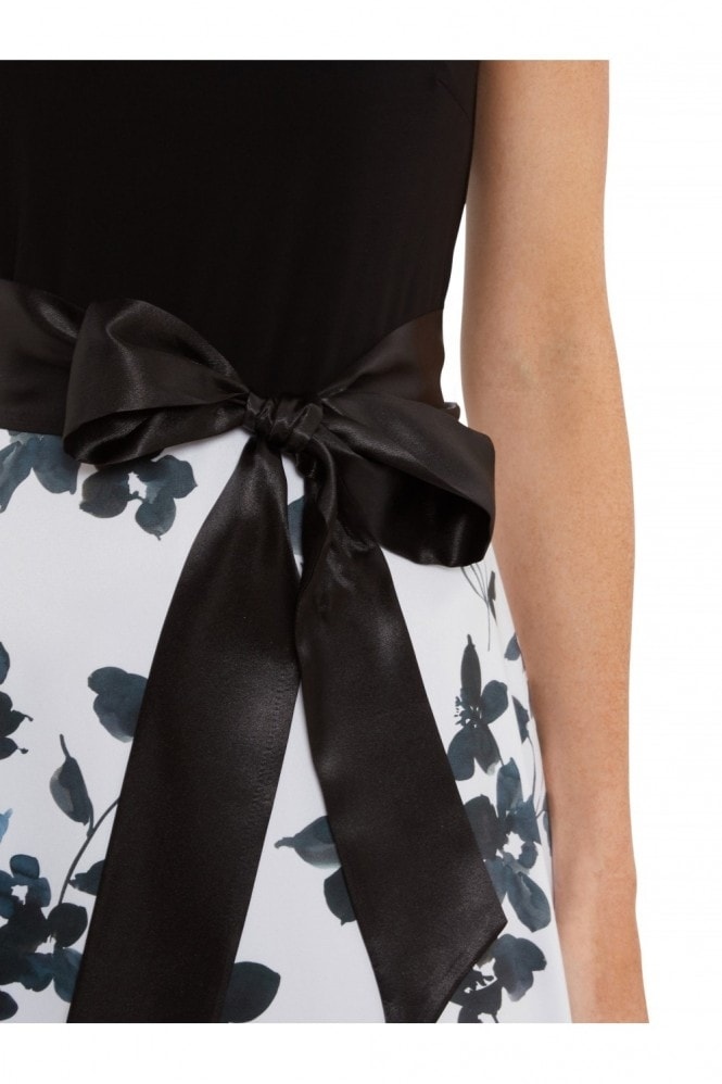 Gina Bacconi Ellie Floral Satin And Jersey Dress