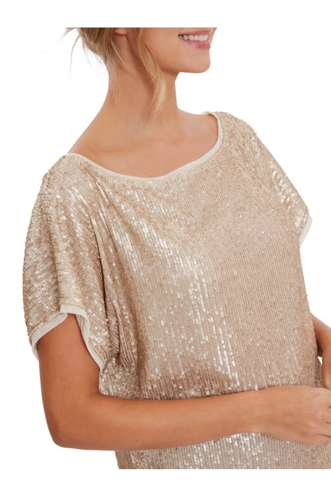 Gina Bacconi Lupe Stretch Sequin Top