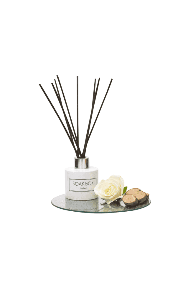 Soak Box England Rose & Sandalwood, Luxury Reed Diffuser
