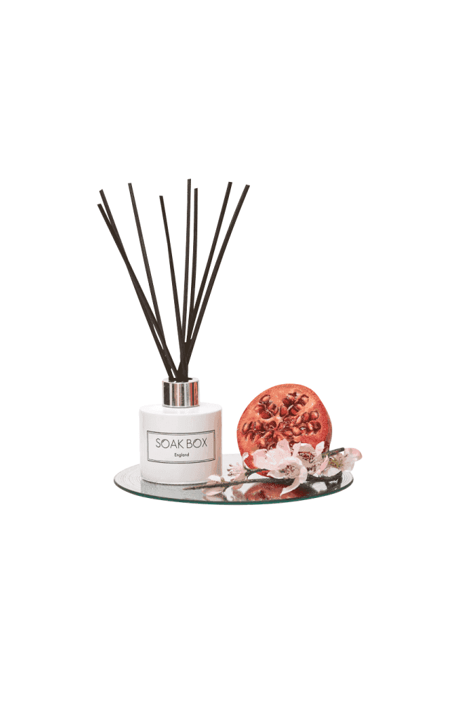 Soak Box England Apple Blossom & Pomegranagte, Luxury Reed Diffuser