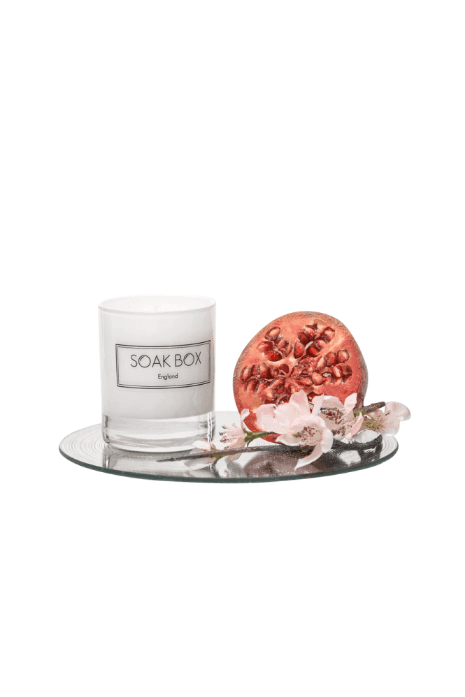 Soak Box England Apple Blossom & Pomegranagte, Naurally Scented Candle