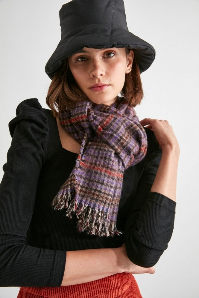 Little Mistress x Trendyol Brown Check Scarf