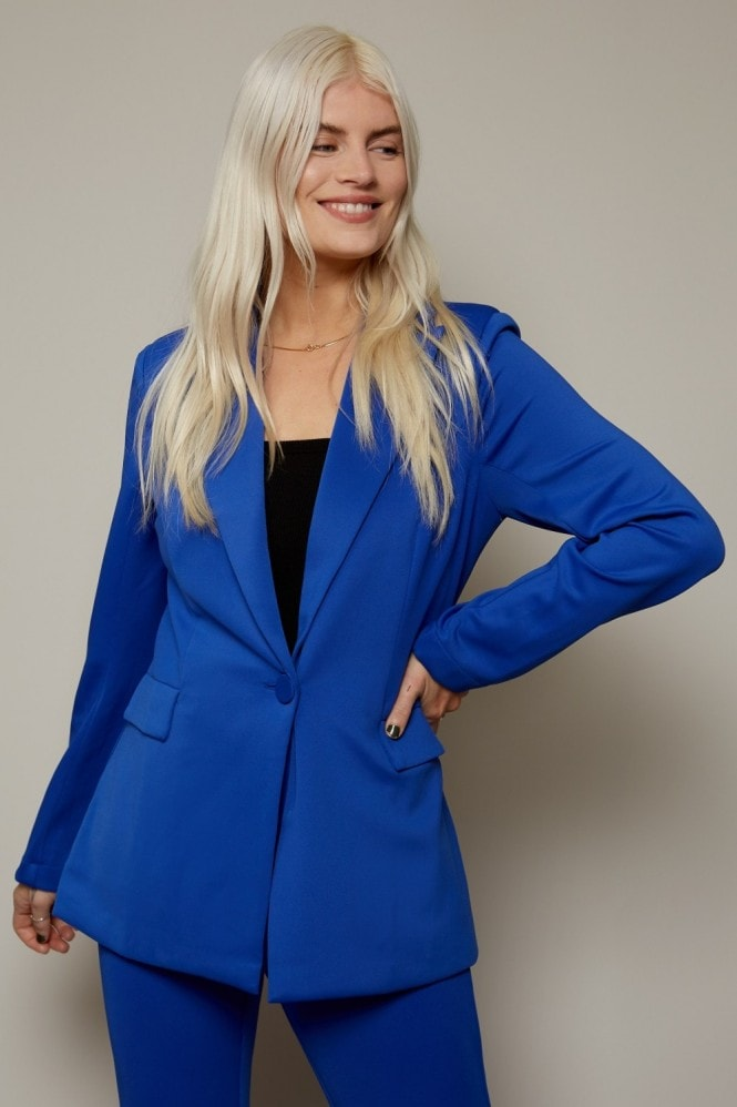Little Mistress x Ashley James Blue Tailored Blazer Co-ord