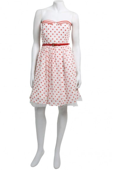 Red Polka Dot 50's Style Dress