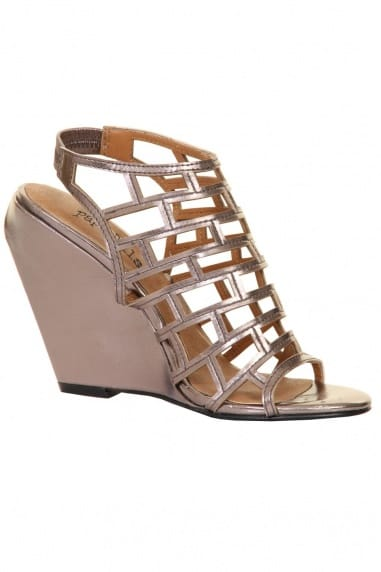 Pewter Cage Patent Wedges