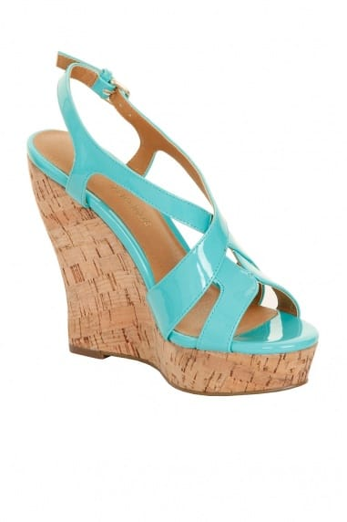 Mint Patent Cork Wedges