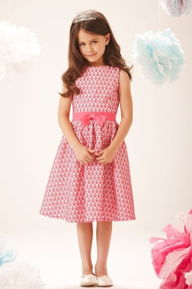 Pink Teardrop Pattern Party Dress