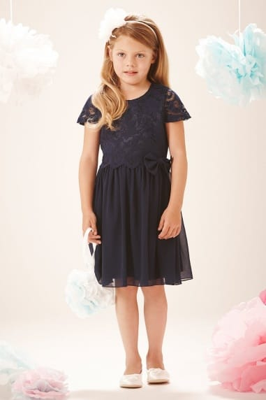 Navy Lace Top Dress